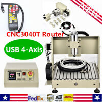 3/4 Axis CNC 3040 Router Engraver 400/800W PCB 3D Engraving Woodworking Machine