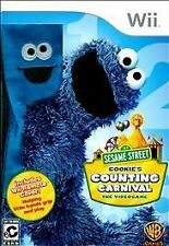 NEW Wii Game  Sesame Street: Cookie's Counting Carnival W/ Cover  MAKE AN OFFER