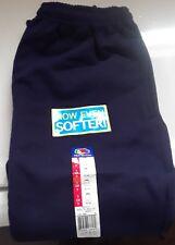 Mens Fruit of the Loom Fleece Elastic Bottom Sweatpants - Navy Blue  S- NWT