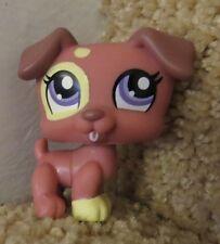 Littlest Pet Shop LPS Brown / Pink Jack Russel Terrier  No 1475