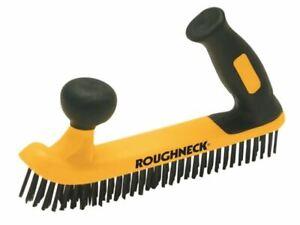 Roughneck - Zweihändige Drahtbürste Soft-Grip