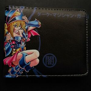 Yu-Gi-Oh! Yugioh Dark Magician Girl Anime Leather Slim Bifold Wallet Card Holder