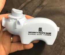 Vintage security pacific bank Plastic Pig bank Seguridad Solidez Y Garantia