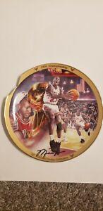 Michael Jordan 1991 Championship Bradford Exchange Plate w/ Upper Deck COA