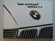 Manuel-BMW autoradio BAVARIA C II, 7.1989, 52 pages avec radiopass