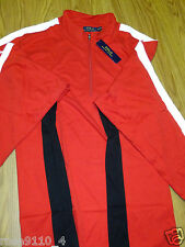Polo by Ralph Lauren Color-Blocked Pima Pullover 1/4 Zip BIG & TALL 4XB Red
