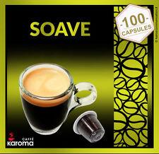 100 NESPRESSO Capsules Compatible Pure Italian Espresso Karoma (Soave) Karoma.