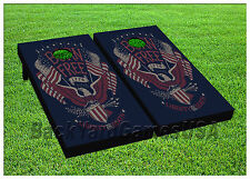 VINYL WRAPS Born Free 1776 Cornhole Boards  Bag Toss Game Stickers 736