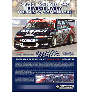 Classic Carlectables – 1/18 Scale – Holden VS Commodore #1 Craig Lowndes' 1999