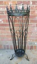 Vintage Black Wrought Iron Umbrella Walking Cane Stand