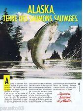 PUBLICITE ADVERTISING 075  1988  LE saumon sauvage de l'ALASKA