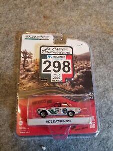 1/64 Scale 1972 Datsun 510,1600,La Carrera Panamerica rally edition.Greenlight,