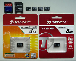 NEU: Adapter SD | Swissbit 1GB 32GB  | Transcend 2GB 4GB 8GB microSD microSDHC