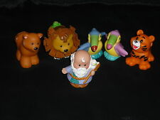 Fisher Price Little People Ark Lot: 2 Toucans, Noah, 2 Lions, Tiger