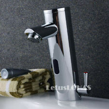 Automatic Hands Touch Free Sensor Control Bathroom Sink Tap Mixer Faucet 1076