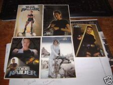 TOMB RAIDER SET OF 5 DVD POSTCARDS ANGELINA JOLIE LAURA CROFT
