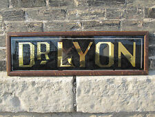 Antique Edwardian Doctor Dr Lyon Trade Sign Crane Interior Decorate Gold Black