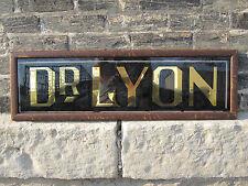 ANTIQUE EDWARDIAN DOCTOR DR LYON TRADE SIGN CRANE INTERIOR DECORATE GOLD BLACK