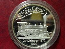 1997 Liechtenstein Large Silver Proof 20 Euro- Train/Railroad