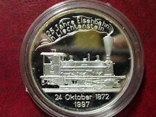 1997 Liechtenstein Large Silver Proof 20 Euro- Train/Railroad