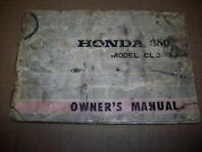 1968 HONDA CL350 OWNERS MANUAL