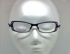 "Lafont Paris Eyeglasses  ""Emilie""  Black & Violet Rectangular Laser Cut Metal"