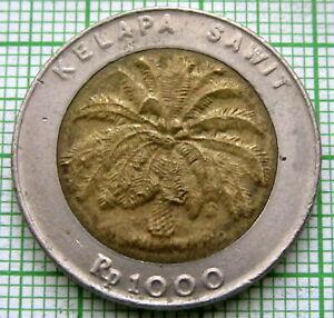 INDONESIA 1996 1000 RUPIAH, PALM OIL TREE, BI-METALLIC