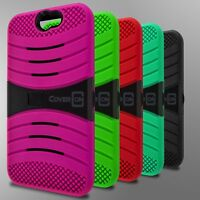 Dual Layer Protective Hybrid Armor Kickstand Phone Cover Case for HTC One A9