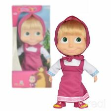 New Masha And The Bear 23cm Masha Soft Bodied Doll Simba Official