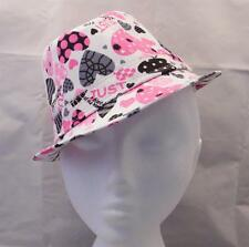 Child Toddler Trilby Fedora Hat PINK AND BLACK HEARTS summer occasion wedding