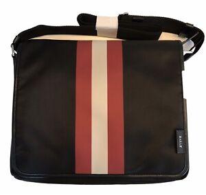 Bally Super Light Black Nylon Computer Bag With Adjustable Shoulder Strap