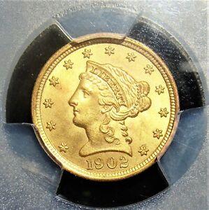 1902 Gold $2 1/2 MS65 PCGS.