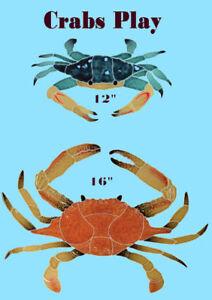 Crabs 2 Mosaic Tile swimming pool Bath Shower Wall table bar patio walk way art