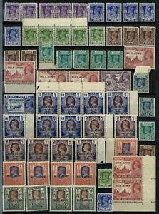 Burma 1945 KGVI British Military Administration x 61 Mint Stamps #E34425