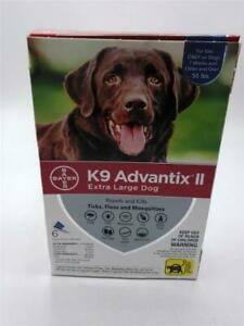 K9 Advantix II Flea and Tick Treatment for Extra Large Dogs, 1 Monthly Treatment