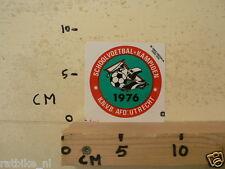 STICKER,DECAL KNVB AFD. UTRECHT 1976 SCHOOLVOETBAL KAMPIOEN FOOTBALL SOCCER