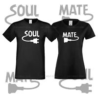 Couple T-shirt You Are My Soul Mate For Her And Him Matching Love Black Tees