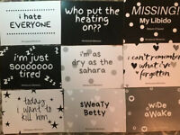 Milestone Cards Menopause Maternal  Funny Banter Positive Mindfulness 9 Pack