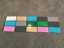 HUGE Lego Base Plate Lot of 15 Friends Style - 8x16 baseplates baseplate Z267