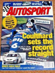 Autosport 19/1/95* 1995 BTCC GUIDE - McLAREN F1 GTR - MONTE CARLO RALLY PREVIEW
