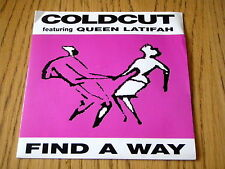 "COLDCUT featuring QUEEN LATIFAH - FIND A WAY   7"" VINYL PS"
