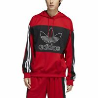 Adidas Mesh Outline Hoodie 3-Stripes - Red/Black [Men's Size S] EI7515
