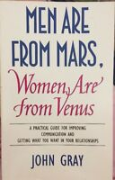 Men Are From Mars Women Are From Venus By John Gray PB Relationships Self Help