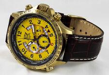 LUXURY CHRONOGRAPH Cavadini Watch Tachymeter Swivelling Ring IP-Gold