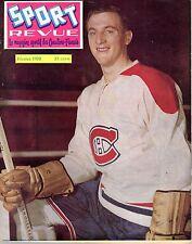 1958 (Feb.) Sport Revue, Hockey magazine, Dickie Moore, Montreal Canadiens~ Good