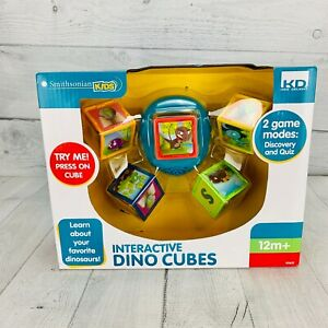 Smithsonian Interactive Dino Cubes Toddler Learning Toy 12+ Months Blocks Babies