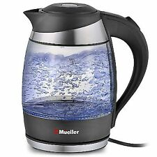 Mueller Ultra Cordless Electric Kettle Fast Boiling Glass Tea Coffee Pot 1.8 Lit