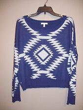 Delia's NWOT Womens Size L Multi-Color Cropped Sweater Long Sleeves