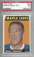 1965 Topps hockey card #80 Marcel Pronovost Toronto Maple Leafs graded PSA 7