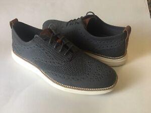 Cole Haan Men's Zerogrand Stitchlite Wingtip Oxford Casual Dress Shoes Gray 9.5M